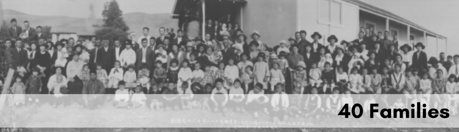 Historical photo of 40 families