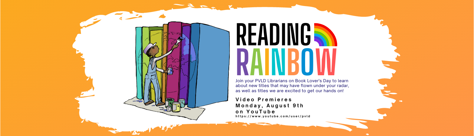 Reading Rainbow Video premieres Monday, August 9th on Youtube. Illustration of boy painting books.